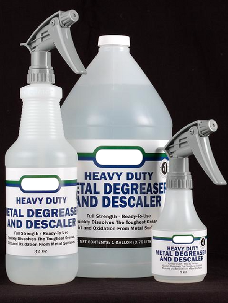 Zinc and Metal Degreaser for Patina Preparation