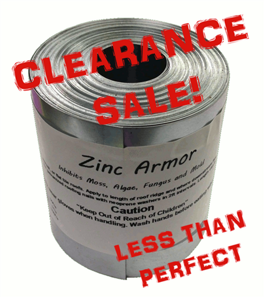 "Discounted ZincArmor 6"" Zinc Strip 50 ft Prevent Algae, + /-  .3"""