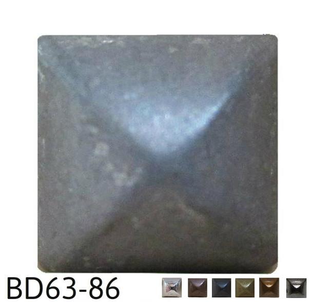 """BD63 - Square Pyramid Nail/Clavos Head - Head Size: 3/8"""" Nail Length: 1/2"""" - 80/box"""