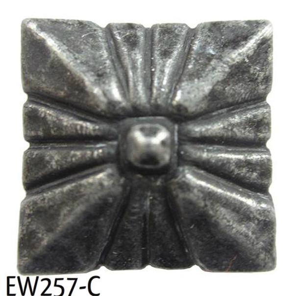 "EW257 - Square Nail/Clavos Head with Circular Detail  - Head Size: 3/4"" Nail Length: 3/4"" -40/box"