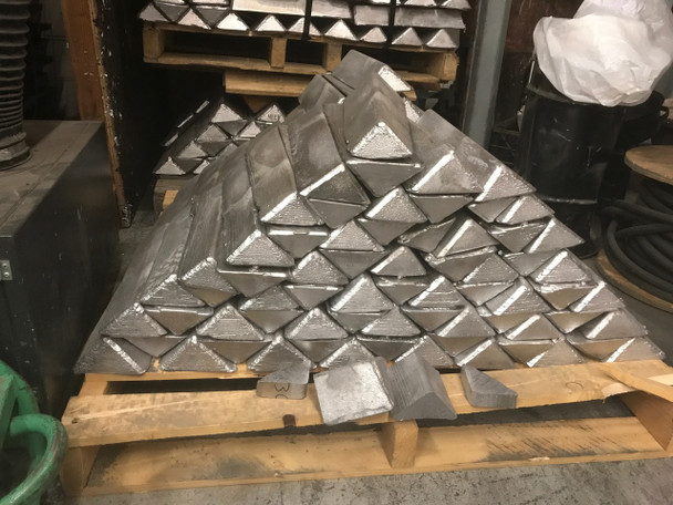 Pallet Recycled Lead Ingots  1000 Pounds $1.59 per pound Freight included