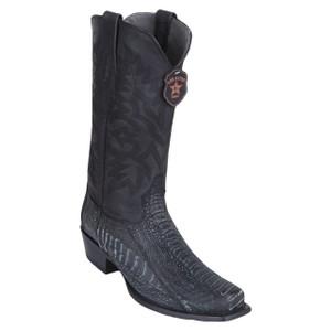 Los Altos Black Sand Finish Ostrich Leg Boots