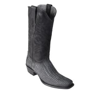 Los Altos Black Teju Lizard High-top Boots