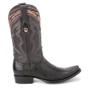 Wild West Black Genuine Lizard Skin Boots