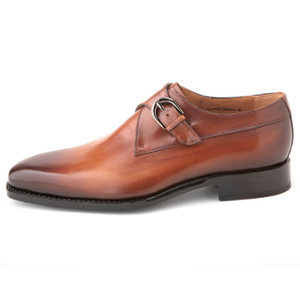 Ugo Vasare Edward Camel Genuine Leather Monkstraps
