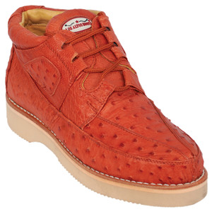 Los Altos Cognac Full Ostrich Skin Casual Sneakers