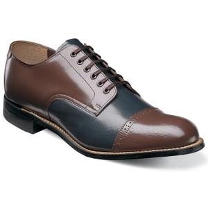 Stacy Adams Madison Brown & Navy Leather Oxfords