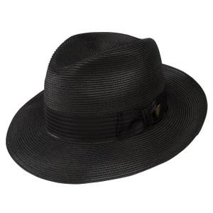 Dobbs Harrod Black Florentine Milan Straw Hat