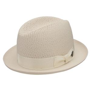 Dobbs Madison Beige Vented Crown Milan Straw Hat