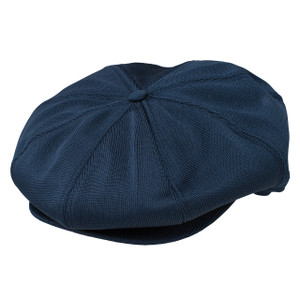 Dobbs Wellington Navy Poly Knit Gatsby Cap