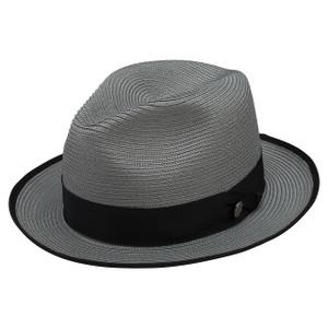 Stetson Latte Gray Florentine Milan Firm Finish Straw Hat