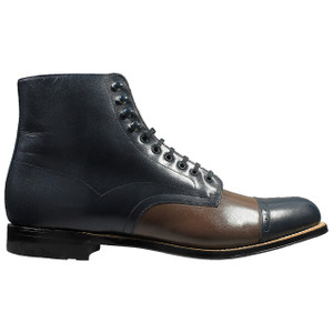 Stacy Adams Madison Navy & Brown Leather Ankle Boots