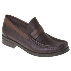 Sandro Moscoloni Duero Brown Leather Penny Loafers