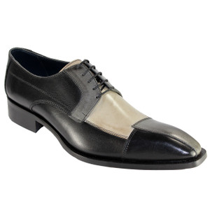 Duca Torino Black & Multi Calfskin Leather Oxfords