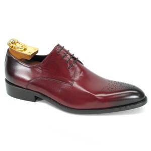 Carrucci Burgundy Genuine Calfskin Leather Oxfords