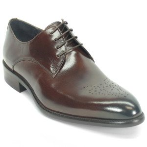 Carrucci Chestnut Genuine Calfskin Leather Oxfords
