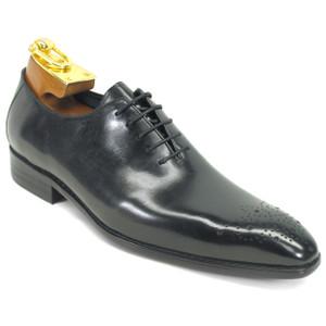 Carrucci Black Calfskin Leather Toned Oxfords