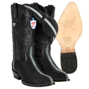 Stingray Rowstone Wild West Black  J-toe Boots