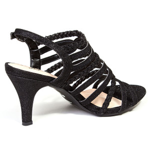 Chic by Lady Couture Gabby Black Gladiator Heels