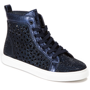 Lady Couture New York Navy High-top Sneakers