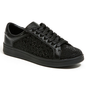 Lady Couture Paris Black Embellished Sneakers
