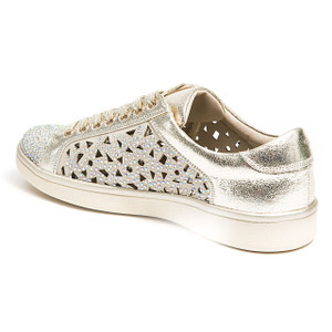 Lady Couture Paris Gold Embellished Sneakers