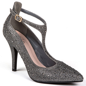 Chic by Lady Couture Party Pewter Heels