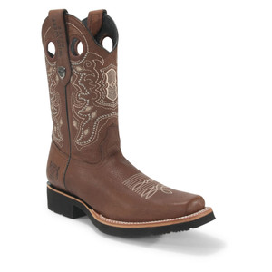 Wild West Rodeo Brown Grisly Leather Pull-up Boots