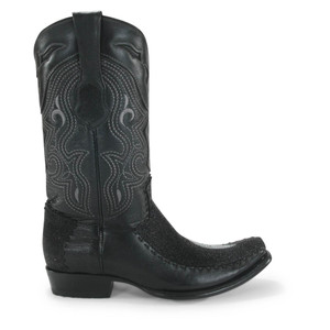 King Exotic Black Stingray & Deer Dubai Toe Boots