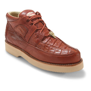 Los Altos Cognac Caiman Belly & Ostrich Casual Shoes
