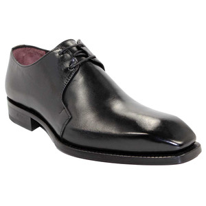 Emilio Franco Franco Black Italian Leather Oxfords