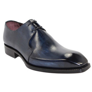 Emilio Franco Franco Navy Italian Leather Oxfords