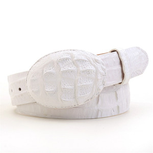 Los Altos White Caiman Belt