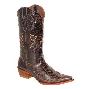 Pecos Bill Brown Leather Western Boot