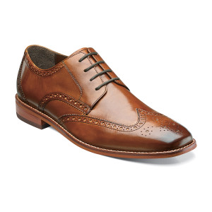 Florsheim Catellano Saddle Tan Leather Wingtip Oxford