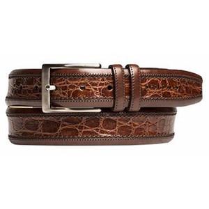 Mezlan Tan Cognac Genuine Crocodile Dress Belt