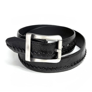 Los Altos Black Genuine Ostrich Skin Belt