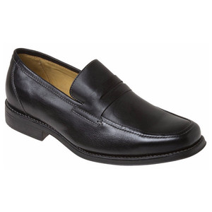 Sandro Moscoloni Stuart Black Genuine Leather Dress Loafers