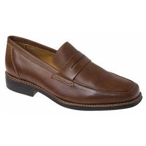 Sandro Moscoloni Stuart Brown Genuine Leather Dress Loafers