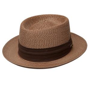 Dobbs Bishop Cognac Straw Hat