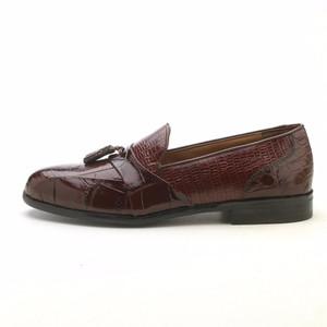 Stacy Adams Alberto Cognac Printed Leather Slip-ons