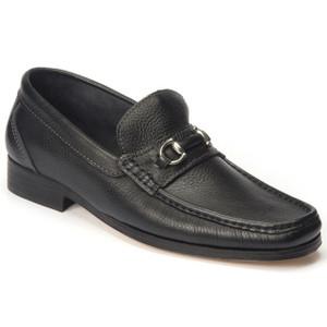 Sandro Moscoloni Garda Black Genuine Leather Bit Loafers