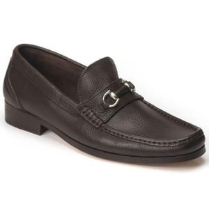 Sandro Moscoloni Garda Brown Genuine Leather Bit Loafers