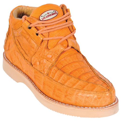 Los Altos Buttercup Full Caiman Skin Casual Sneakers