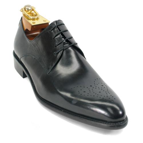 Carrucci Black Genuine Calfskin Leather Oxfords
