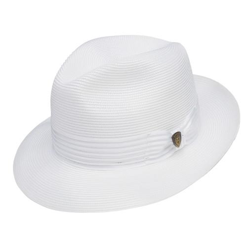 Dobbs Harrod White Straw Hat