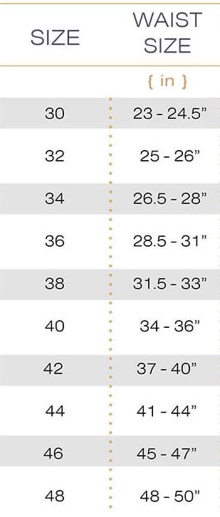 Shapewear Size Chart