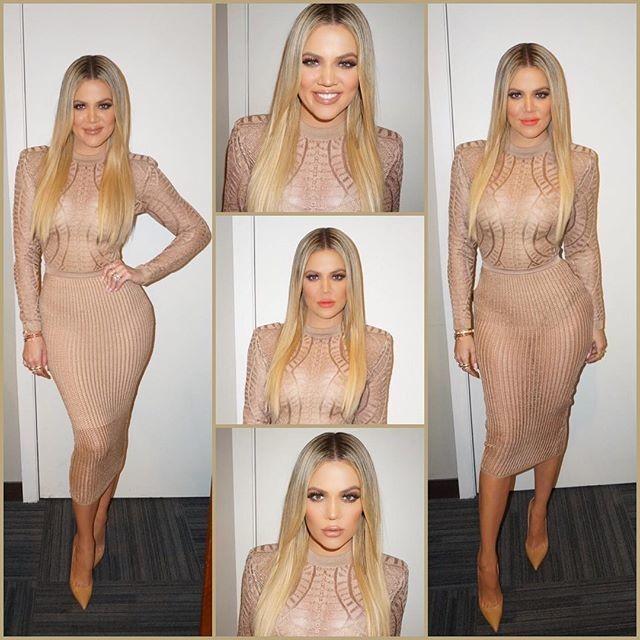 Khloe Kardashian wearing shapewear on the Ellen show