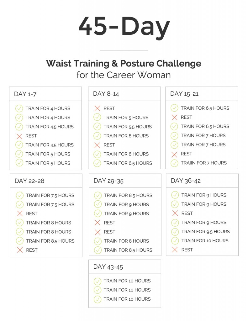 45-day waist training and posture improvement challenge