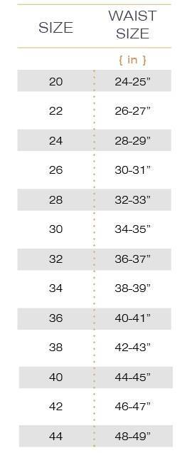 Waist Trainer Size Chart | Hourglass Angel